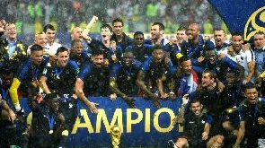 2018 World Cup: Celebration as France lifts the trophy
