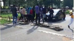 Tyre-burning riots, vandalism hit KNUST; cops deployed
