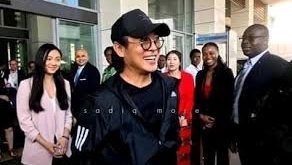 How many Ghanaians respond to Jet Li's visit to Ghana